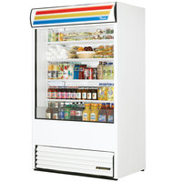 True TAC-48-LD White Vertical Air Curtain Refrigerator - 34 Cu. Ft.