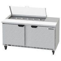 Beverage-Air SPED60HC-12-2-CL Elite Series 60 inch 2 Drawer Refrigerated Sandwich Prep Table with Clear Lid