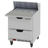 Beverage-Air SPED27HC-C Elite Series 27 inch 2 Drawer Refrigerated Sandwich Prep Table with 17 inch Cutting Board