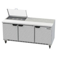 Beverage-Air SPED72HC-08-2-CL Elite Series 72 inch 2 Drawer Refrigerated Sandwich Prep Table with Clear Lid