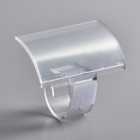 Snap Drape SCSET Clear Plastic Table Skirt Clip with Sign Holder / Velcro™ Attachment - 12/Pack