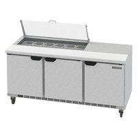 Beverage-Air SPED72HC-12-2-CL Elite Series 72 inch 2 Drawer Refrigerated Sandwich Prep Table with Clear Lid