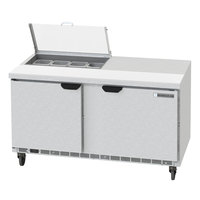 Beverage-Air SPED60HC-08-2-CL Elite Series 60 inch 2 Drawer Refrigerated Sandwich Prep Table with Clear Lid