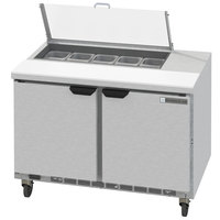 Beverage-Air SPED48HC-10-2-CL Elite Series 48 inch 2 Drawer Refrigerated Sandwich Prep Table with Clear Lid
