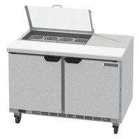 Beverage-Air SPED48HC-08-2-CL Elite Series 48 inch 2 Drawer Refrigerated Sandwich Prep Table with Clear Lid