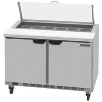 Beverage-Air SPED48HC-12-2-CL Elite Series 48 inch 2 Drawer Refrigerated Sandwich Prep Table with Clear Lid