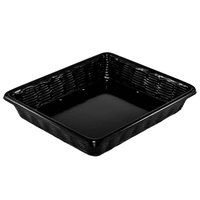 Black Wicker-Look Plastic Basket with Holes - 12 inch x 14 inch x 2 inch