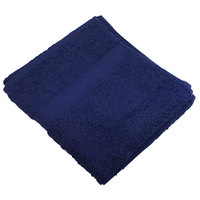 16 inch x 27 inch 100% Ring Spun Cotton Navy Hand Towel 3 lb. - 12/Pack