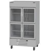 Beverage-Air HBR44HC-1-HG Horizon Series 47 inch Bottom Mount Half Glass Door Reach-In Refrigerator