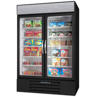 Beverage-Air MMF44HC-1-B-EL MarketMax 47 inch Black Glass Door Merchandiser Freezer with Electronic Lock - 44 cu. ft.