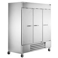Beverage-Air HBF72HC-5 Horizon Series 75 inch Solid Door Reach-In Freezer with LED Lighting - 69 cu. ft.