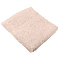 16 inch x 27 inch 100% Ring Spun Cotton Beige Hand Towel 3 lb. - 12/Pack