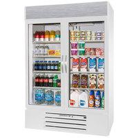 Beverage-Air MMR49HC-1-W-EL MarketMax 52 inch White Refrigerated Glass Door Merchandiser with Electronic Lock - 46.15 cu. ft.