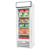 Beverage-Air MMF12HC-1-W-EL MarketMax 24 inch White Glass Door Merchandiser Freezer with Electronic Lock - 11.9 cu. ft.