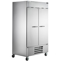 Beverage-Air HBF44HC-1 47 inch Horizon Series Two Section Solid Door Reach in Freezer with LED Lighting - 44 cu. ft.