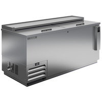 Beverage-Air DW64HC-S-29 65 inch Frosty Brew Stainless Steel Deep Well Bottle Cooler