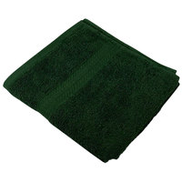 16 inch x 27 inch 100% Ring Spun Cotton Hunter Green Hand Towel 3 lb.   - 120/Case