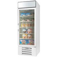 Beverage-Air MMF23HC-1-W-EL MarketMax 27 inch White Glass Door Merchandiser Freezer with Electronic Lock - 22.5 cu. ft.