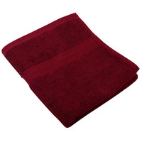 16 inch x 27 inch 100% Ring Spun Cotton Burgundy Hand Towel 3 lb.   - 120/Case