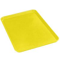 Carlisle 2618FMTQ302 Citrus Yellow 18 inch x 26 inch x 1 inch Fiberglass Market Tray - 6/Case