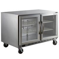 Beverage-Air UCR48AHC-25 48 inch Glass Door Undercounter Refrigerator