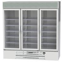 Beverage-Air MMR72HC-1-W-EL MarketMax 75 inch White Refrigerated Glass Door Merchandiser with Electronic Lock - 68.93 cu. ft.