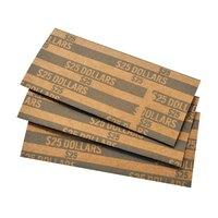 MMF Industries 216020001 Gray Pop-Open Flat Paper Coin Wrapper - $25, Dollar Coins - 1000/Case