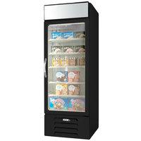 Beverage-Air MMF23HC-1-B-EL MarketMax 27 inch Black Glass Door Merchandiser Freezer with Electronic Lock - 22.5 cu. ft.
