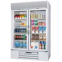 Beverage-Air MMR44HC-1-W-EL MarketMax 47 inch White Refrigerated Glass Door Merchandiser with Electronic Lock - 40.2 cu. ft.