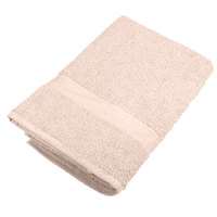 25 inch x 52 inch 100% Ring Spun Cotton Beige Bath Towel 10.5 lb.   - 12/Pack