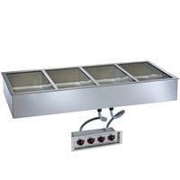 Alto-Shaam 400-HW/D6 Four Pan Drop In Hot Food Well - 6 inch Deep Pans, 120V