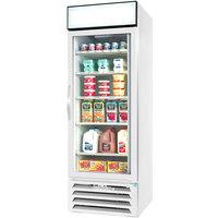 Beverage-Air MMR23HC-1-W-EL MarketMax 27 inch White Refrigerated Glass Door Merchandiser with Electronic Lock - 23.1 cu. ft.