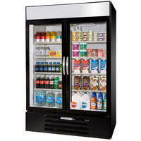 Beverage-Air MMR49HC-1-B-EL MarketMax 52 inch Black Refrigerated Glass Door Merchandiser with Electronic Lock - 46.15 cu. ft.