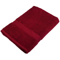 25 inch x 52 inch 100% Ring Spun Cotton Burgundy Bath Towel 10.5 lb.   - 24/Case