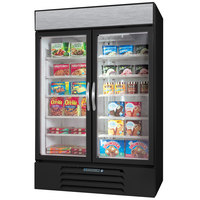 Beverage-Air MMF44HC-1-B Marketmax Black 47 inch Glass Door Merchandising Freezer with LED Lighting