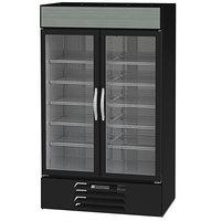 Beverage-Air MMF44HC-1-B Marketmax Black 47 inch Glass Door Merchandising Freezer with LED Lighting