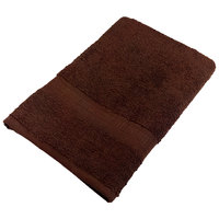 25 inch x 52 inch 100% Ring Spun Cotton Brown Bath Towel 10.5 lb.   - 24/Case