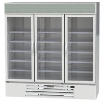 Beverage-Air MMF72HC-5-W 24 inch MarketMax 75 inch White Glass Door Merchandiser Freezer - 68.5 Cu. Ft.