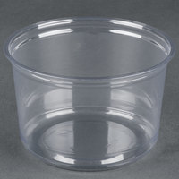 Fabri-Kal Alur RD16 16 oz. Recycled Customizable Clear PET Plastic Round Deli Container 500/Case