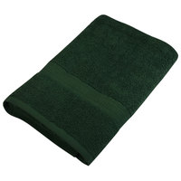25 inch x 52 inch 100% Ring Spun Cotton Hunter Green Bath Towel 10.5 lb. - 12/Pack