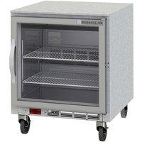 Beverage-Air UCR27HC-25 27 inch Glass Door Undercounter Refrigerator