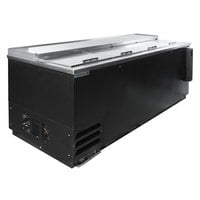 Beverage-Air DW94HC-B-02 95 inch Black Deep Well Bottle Cooler with Stainless Steel Interior