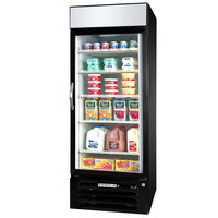 Beverage-Air MMR27HC-1-B-EL MarketMax 30 inch Black Refrigerated Glass Door Merchandiser with Electronic Lock - 25.88 cu. ft.