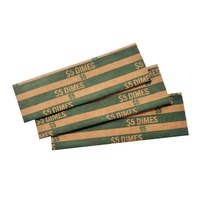 MMF Industries 216020002 Green Pop-Open Flat Paper Coin Wrapper - $5, Dimes - 1000/Case