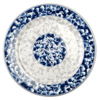 Blue Dragon 14 3/8 inch Round Melamine Plate - 12/Pack