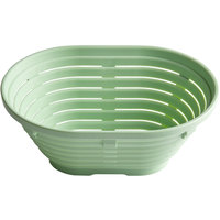 Matfer Bourgeat 118541 8 1/4 inch x 5 7/8 inch Oval Polypropylene Aeration Bread Proofing Basket