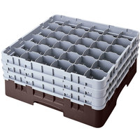 Cambro 36S958167 Brown Camrack Customizable 36 Compartment 10 1/8 inch Glass Rack