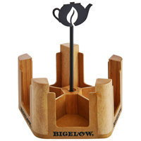 Bigelow Tea 5 Compartment Wooden Tea Bag Caddy