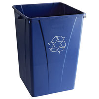 Carlisle 343935REC14 Centurian 35 Gallon Blue Square Recycling Bin