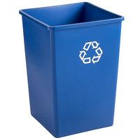 Rubbermaid FG395873BLUE Untouchable 35 Gallon Blue Square Recycling Container